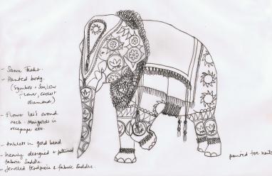 Francescas's preliminary sketches