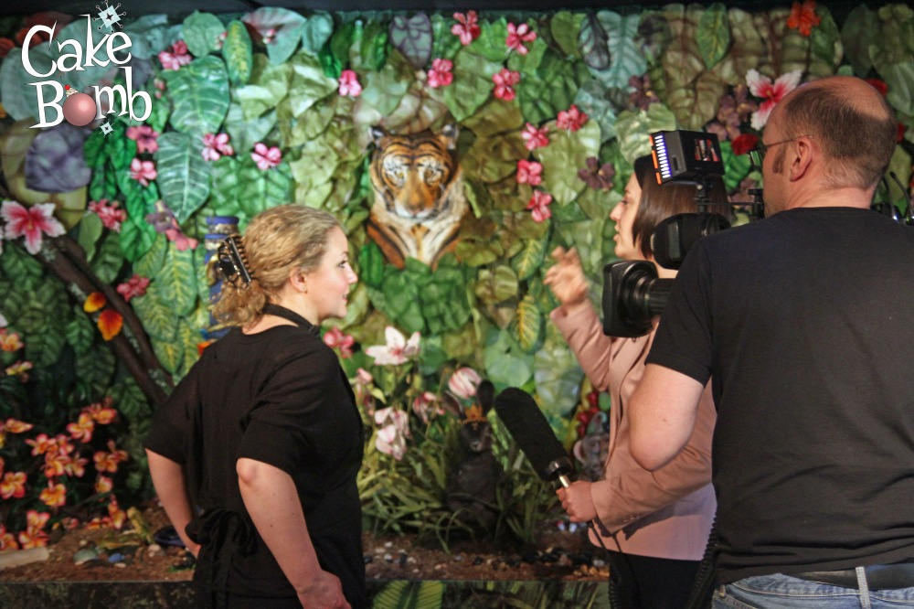 Beth Mottershead being interviewed by the BBC.