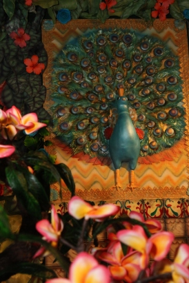 The peacock gate by Jen's Just Desserts, tiles by Melissa Ball